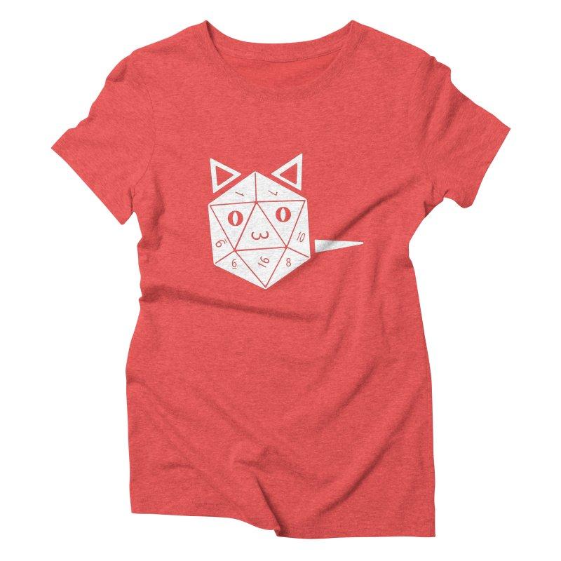 D20 Cat Women's Triblend T-Shirt by n3kogami prints