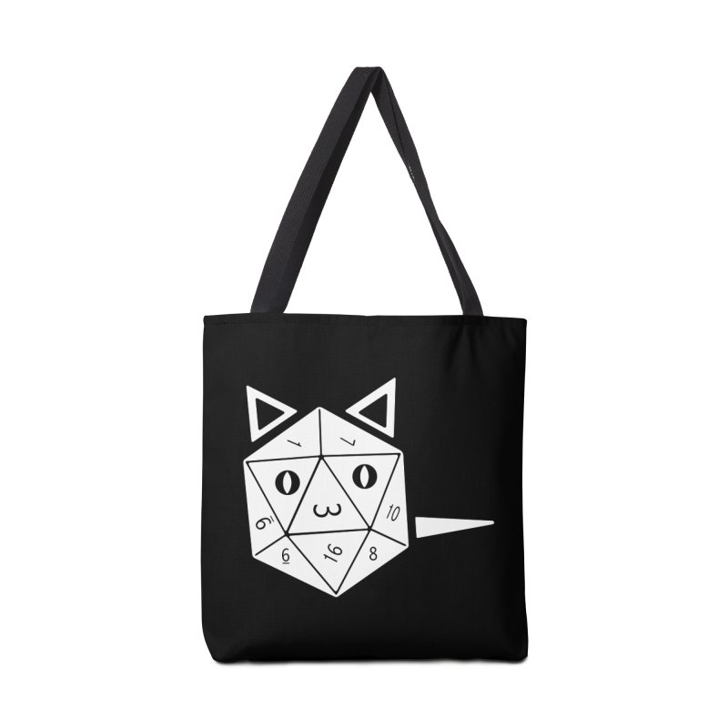D20 Cat Accessories Tote Bag Bag by n3kogami prints