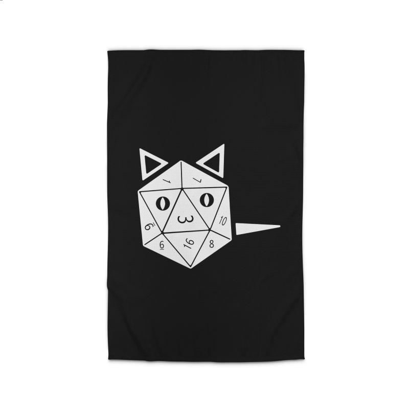 D20 Cat Home Rug by n3kogami prints