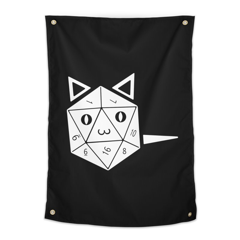 D20 Cat Home Tapestry by n3kogami prints