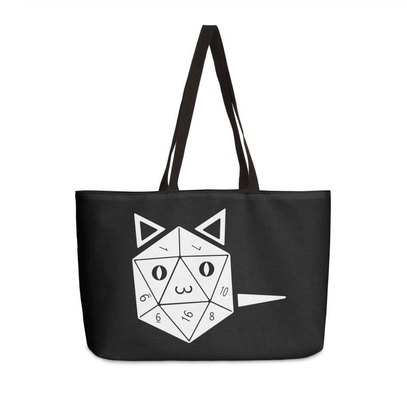 D20 Cat Accessories Weekender Bag Bag by n3kogami prints