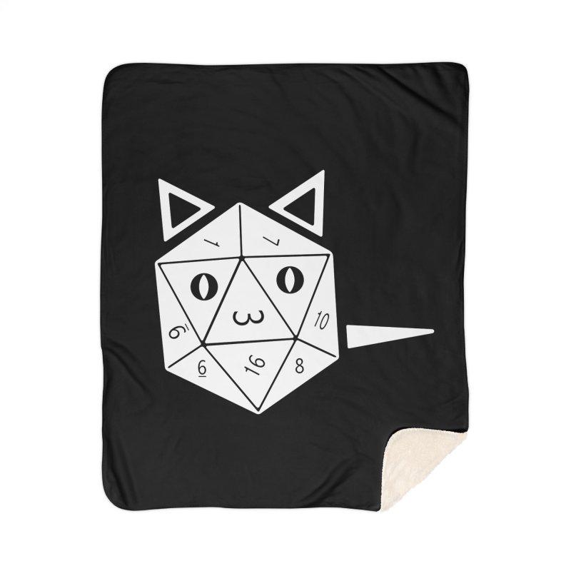 D20 Cat Home Sherpa Blanket Blanket by n3kogami prints