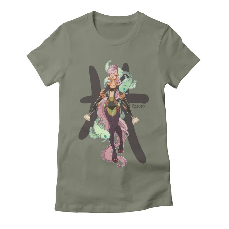 Pisces Women's Fitted T-Shirt by Jessica Madorran's Artist Shop