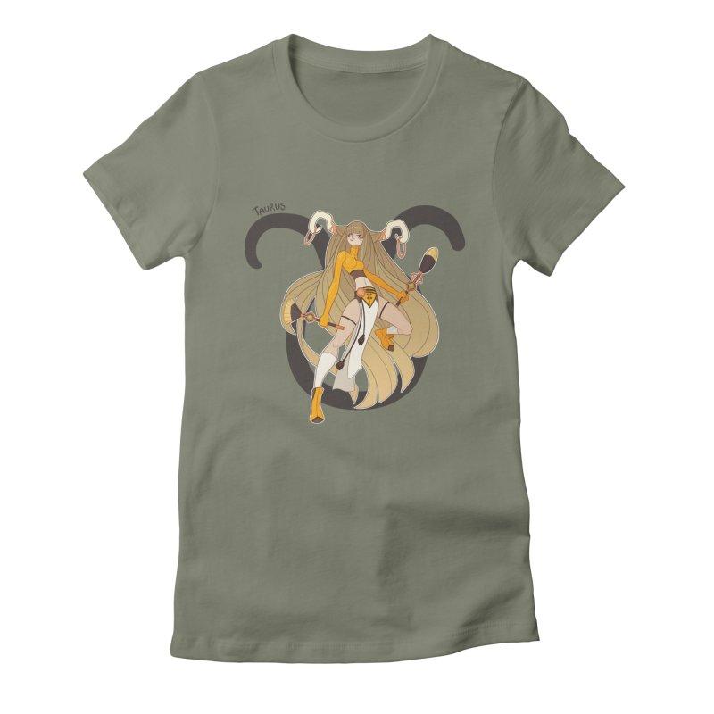 Taurus Women's Fitted T-Shirt by Jessica Madorran's Artist Shop