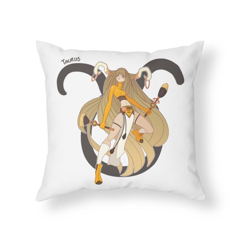 Taurus Home Throw Pillow by Jessica Madorran's Artist Shop
