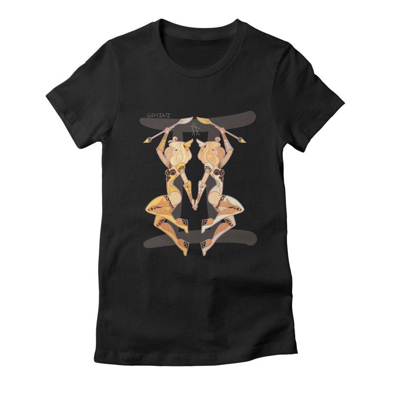 Gemini Women's Fitted T-Shirt by Jessica Madorran's Artist Shop