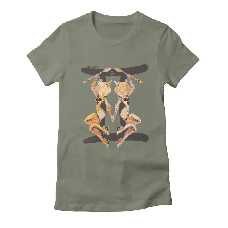 Gemini Women's Fitted T-Shirt by Jessica Madorran's Artist Shop
