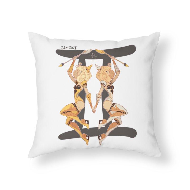 Gemini Home Throw Pillow by Jessica Madorran's Artist Shop