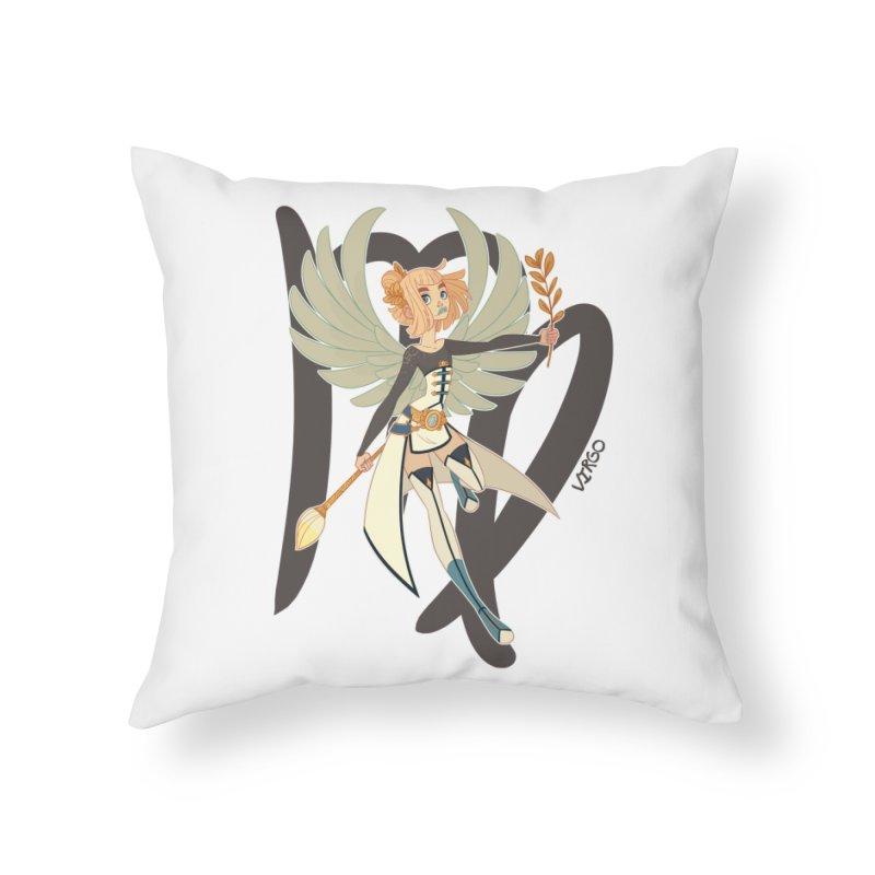 Virgo Home Throw Pillow by Jessica Madorran's Artist Shop