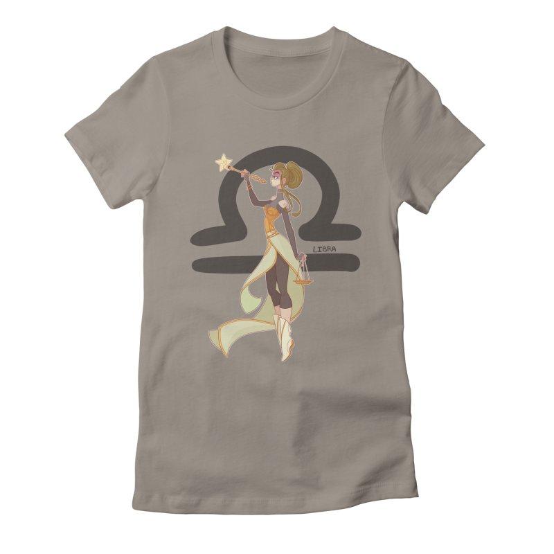 Libra Women's Fitted T-Shirt by Jessica Madorran's Artist Shop