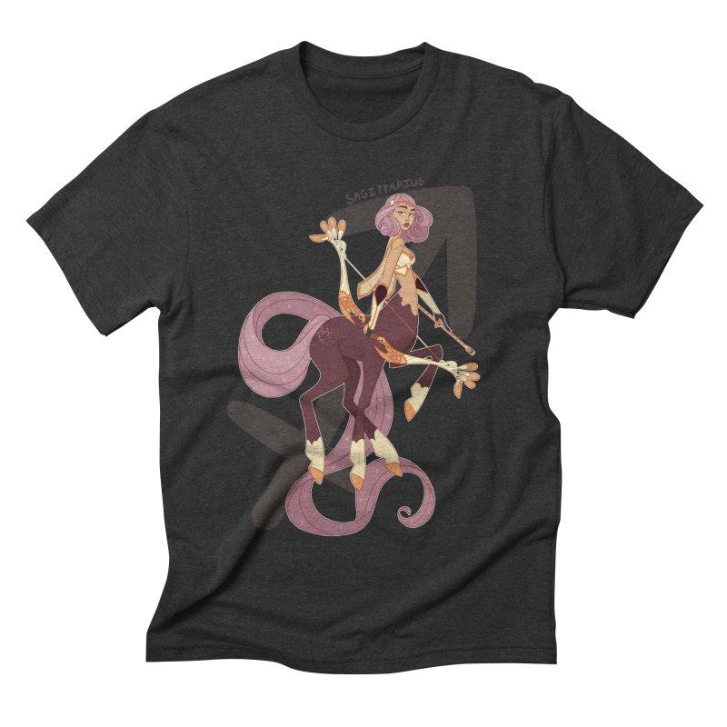 Sagittarius Men's Triblend T-shirt by Jessica Madorran's Artist Shop