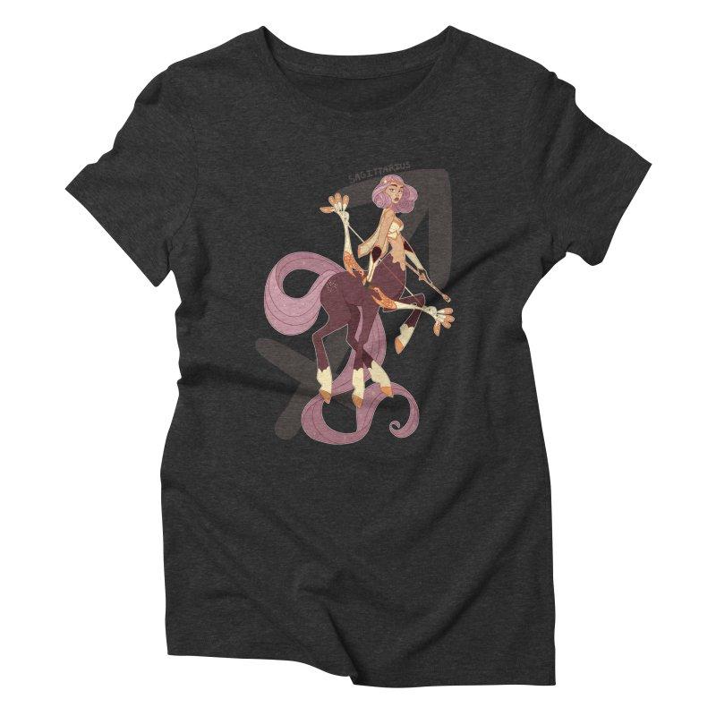 Sagittarius Women's Triblend T-Shirt by Jessica Madorran's Artist Shop