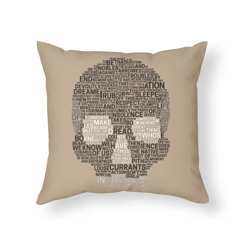 Hamlet Typography in Throw Pillow by Jessica's Shop