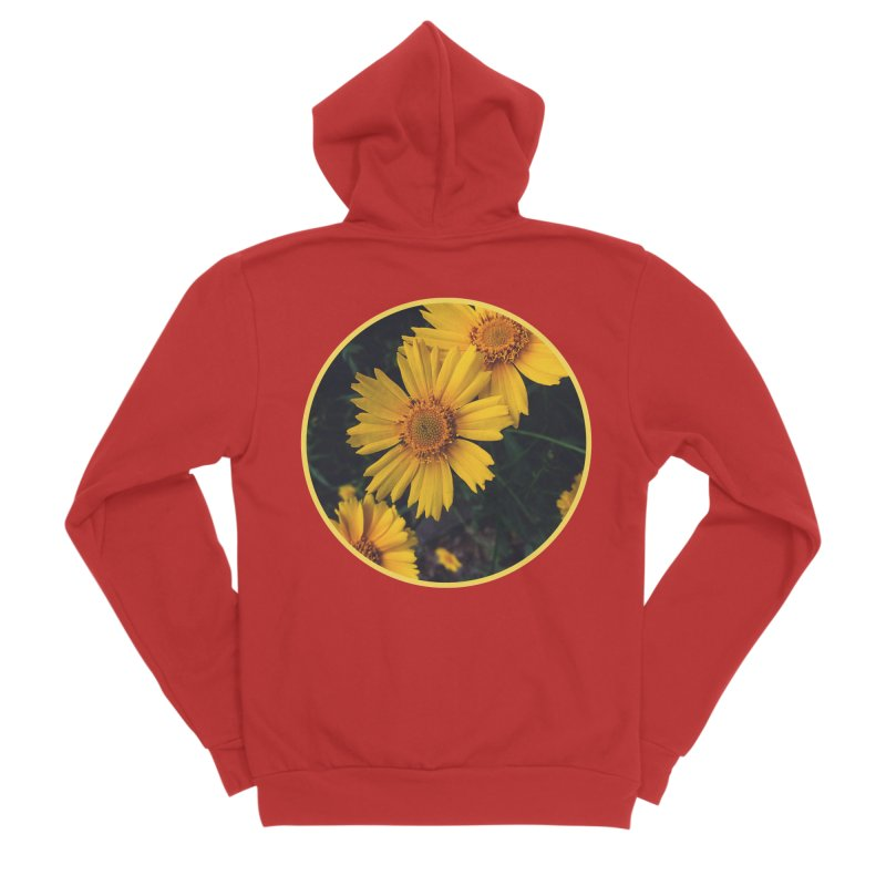 flowers #1 Men's Sponge Fleece Zip-Up Hoody by J. Lavallee's Artist Shop