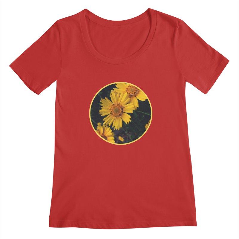 flowers #1 Women's Regular Scoop Neck by J. Lavallee's Artist Shop