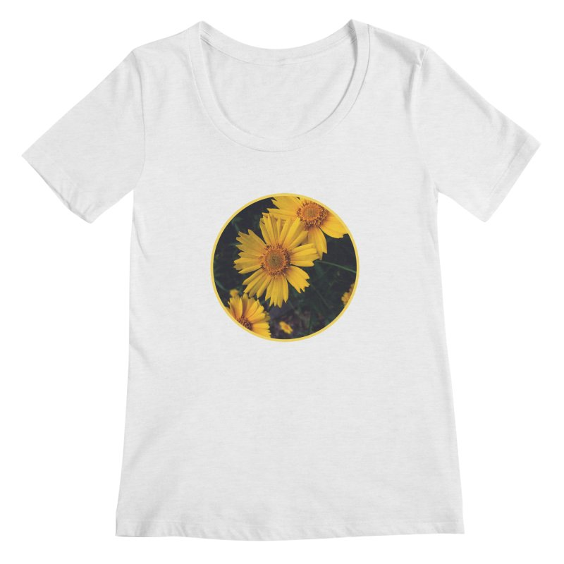 flowers #1 Women's Regular Scoop Neck by J. Lavallee's Artist Shop