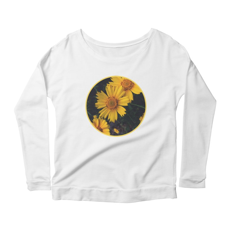 flowers #1 Women's Scoop Neck Longsleeve T-Shirt by J. Lavallee's Artist Shop