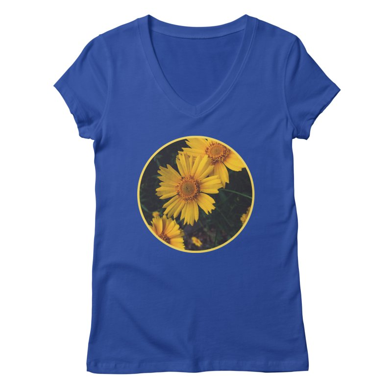 flowers #1 Women's Regular V-Neck by J. Lavallee's Artist Shop