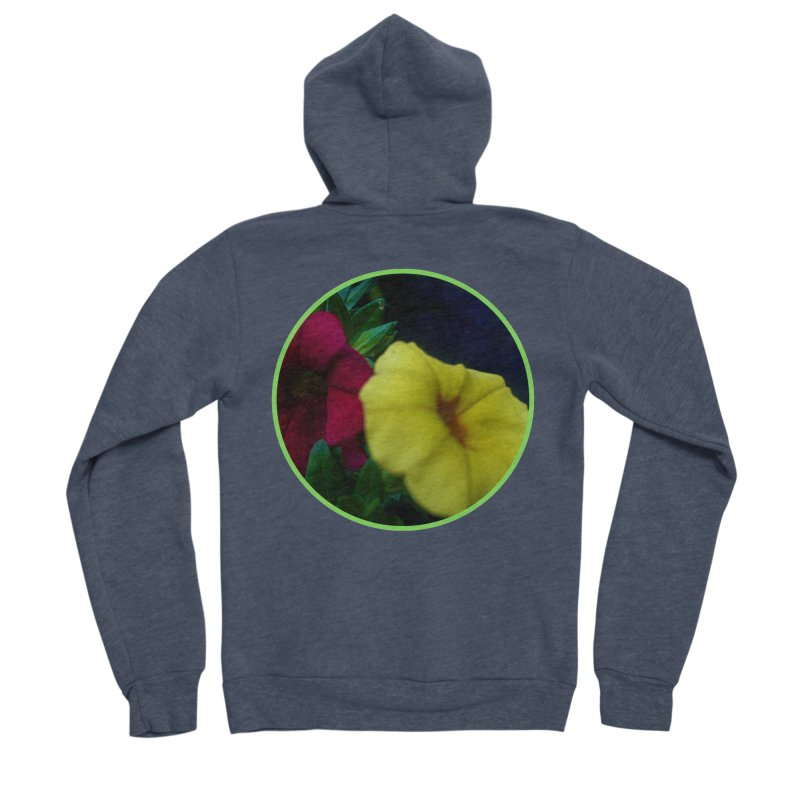 flowers #2 Men's Sponge Fleece Zip-Up Hoody by J. Lavallee's Artist Shop
