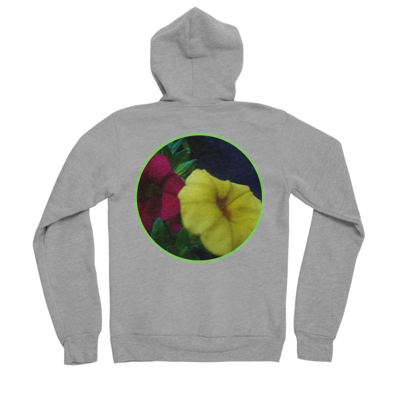 flowers #2 Women's Sponge Fleece Zip-Up Hoody by J. Lavallee's Artist Shop