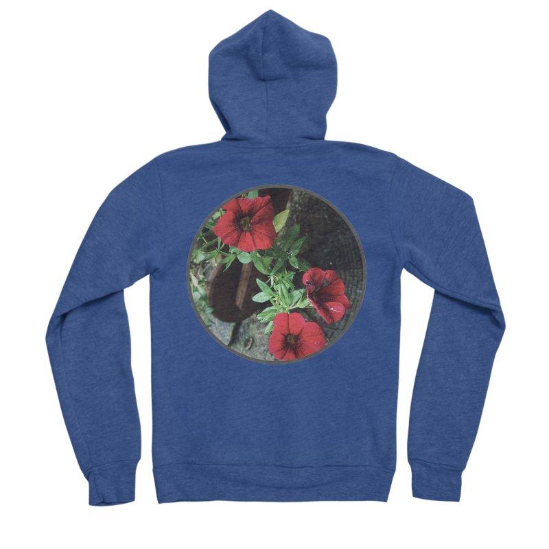 flowers #3 Men's Sponge Fleece Zip-Up Hoody by J. Lavallee's Artist Shop