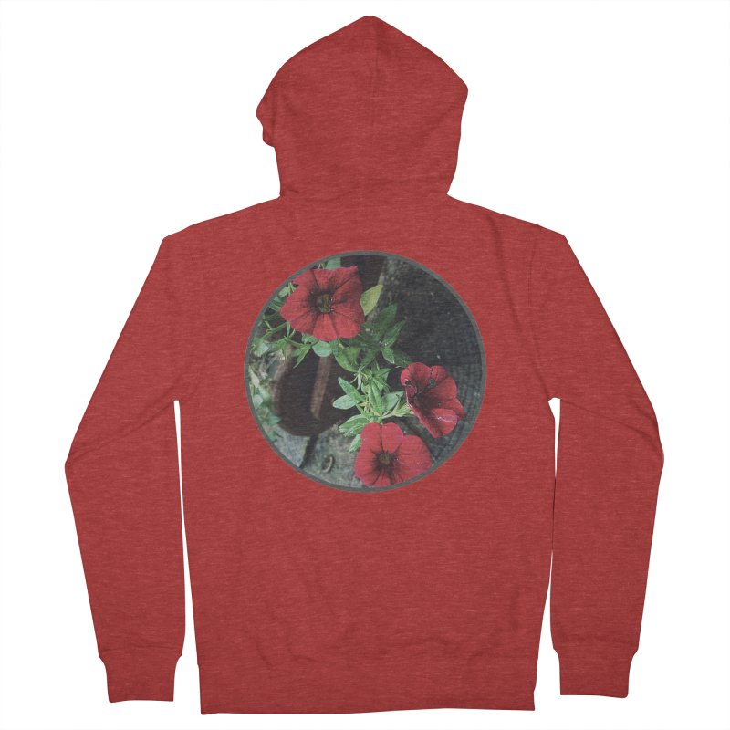 flowers #3 Women's French Terry Zip-Up Hoody by J. Lavallee's Artist Shop