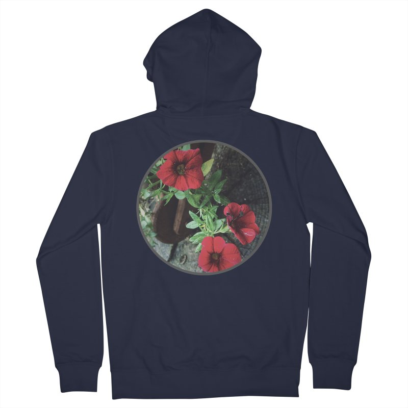 flowers #3 Men's French Terry Zip-Up Hoody by J. Lavallee's Artist Shop