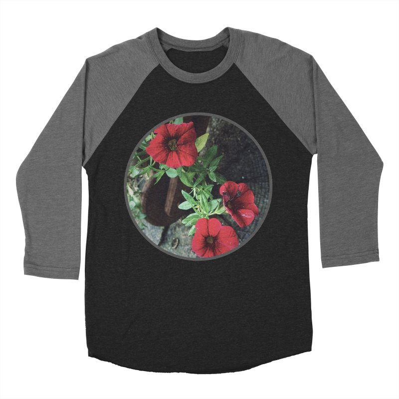 flowers #3 Men's Baseball Triblend Longsleeve T-Shirt by J. Lavallee's Artist Shop