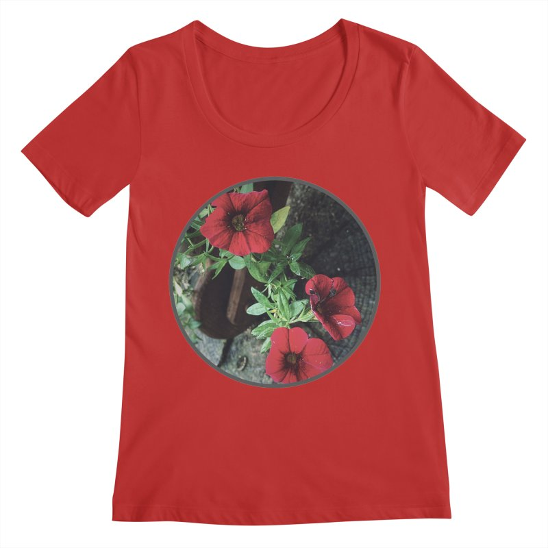 flowers #3 Women's Regular Scoop Neck by J. Lavallee's Artist Shop