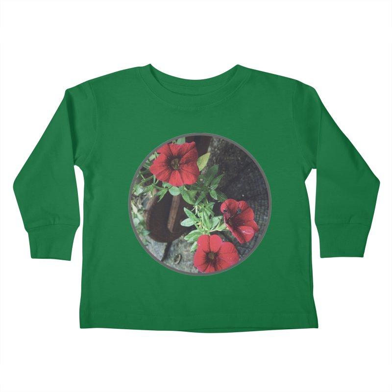 flowers #3 Kids Toddler Longsleeve T-Shirt by J. Lavallee's Artist Shop