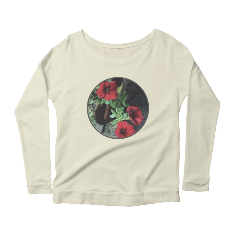 flowers #3 Women's Scoop Neck Longsleeve T-Shirt by J. Lavallee's Artist Shop