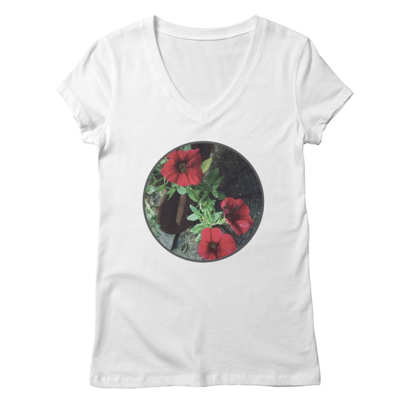 flowers #3 Women's Regular V-Neck by J. Lavallee's Artist Shop