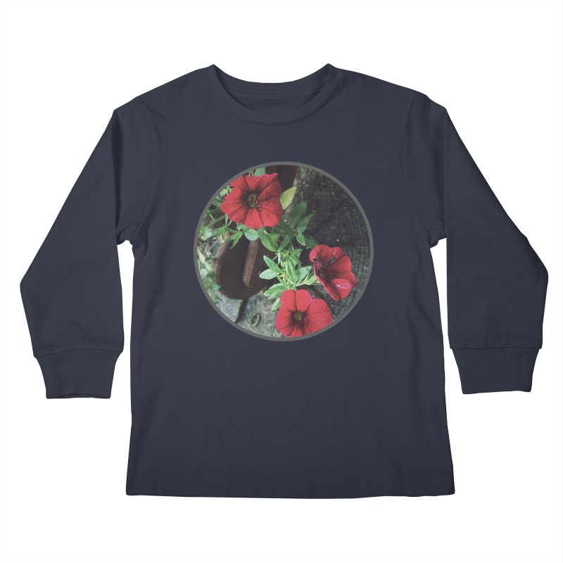 flowers #3 Kids Longsleeve T-Shirt by J. Lavallee's Artist Shop