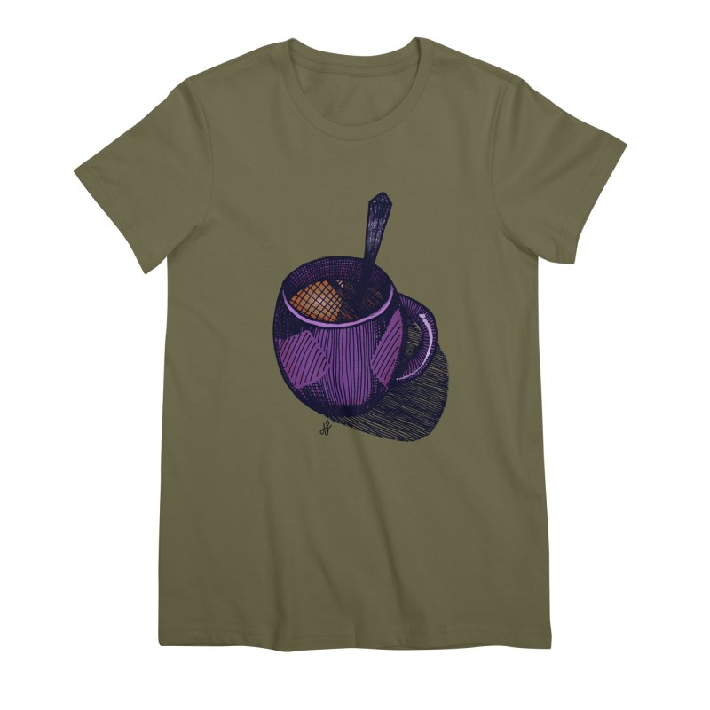 coffee mug (color version) Women's Premium T-Shirt by J. Lavallee's Artist Shop