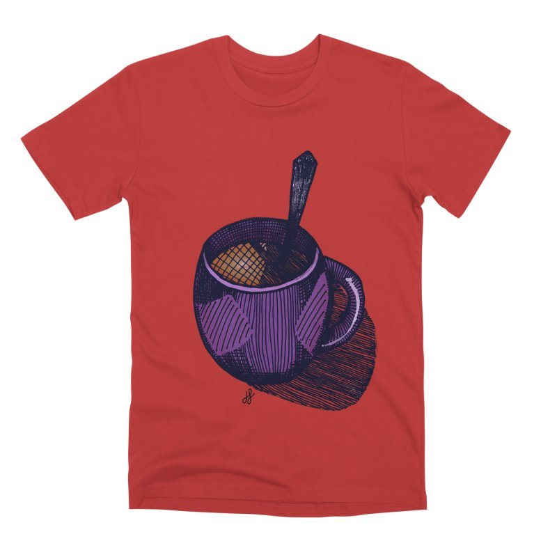 coffee mug (color version) Men's Premium T-Shirt by J. Lavallee's Artist Shop