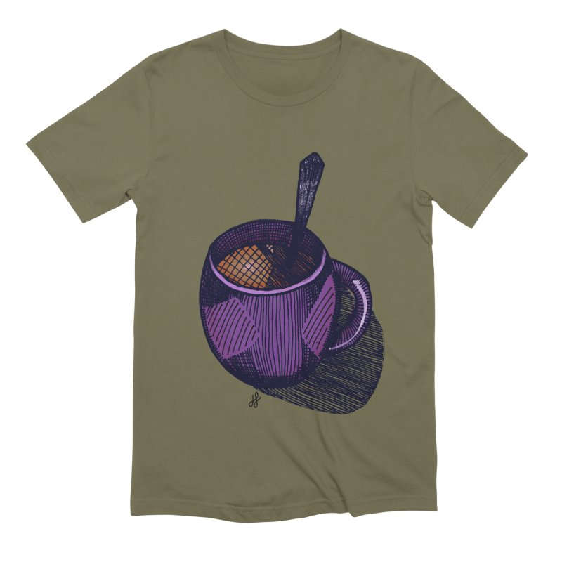 coffee mug (color version) Men's Extra Soft T-Shirt by J. Lavallee's Artist Shop