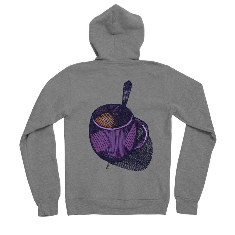 coffee mug (color version) Men's Sponge Fleece Zip-Up Hoody by J. Lavallee's Artist Shop