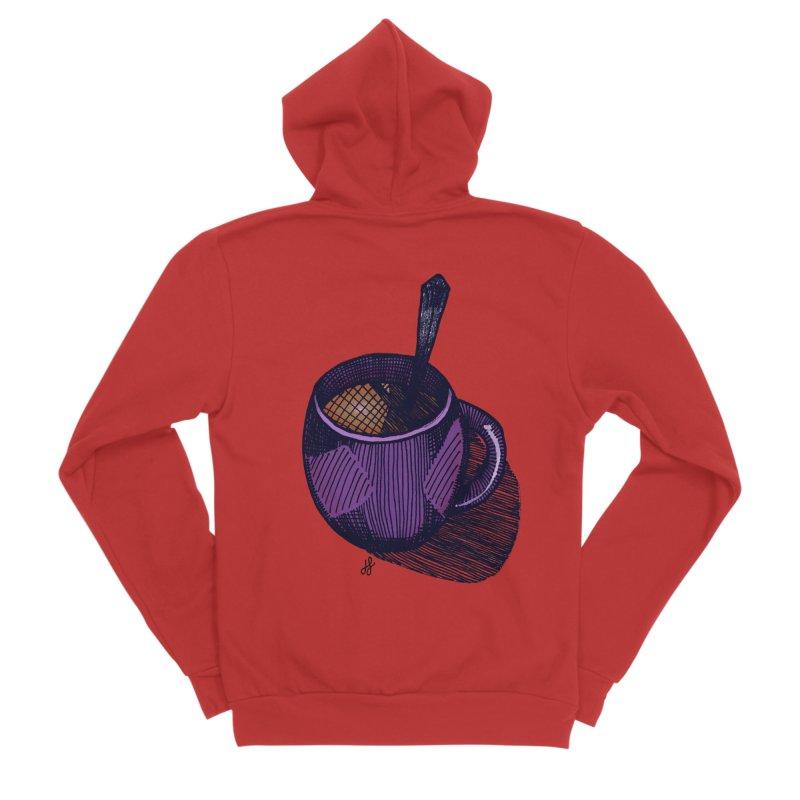 coffee mug (color version) Men's Zip-Up Hoody by J. Lavallee's Artist Shop