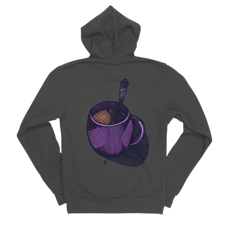 coffee mug (color version) Men's Sponge Fleece Zip-Up Hoody by J. Lavallee's Artist Shop