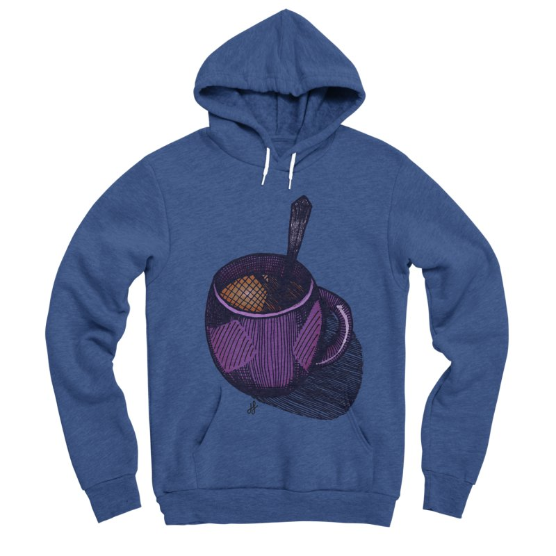 coffee mug (color version) Men's Sponge Fleece Pullover Hoody by J. Lavallee's Artist Shop