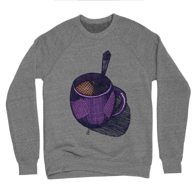 coffee mug (color version) Men's Sponge Fleece Sweatshirt by J. Lavallee's Artist Shop