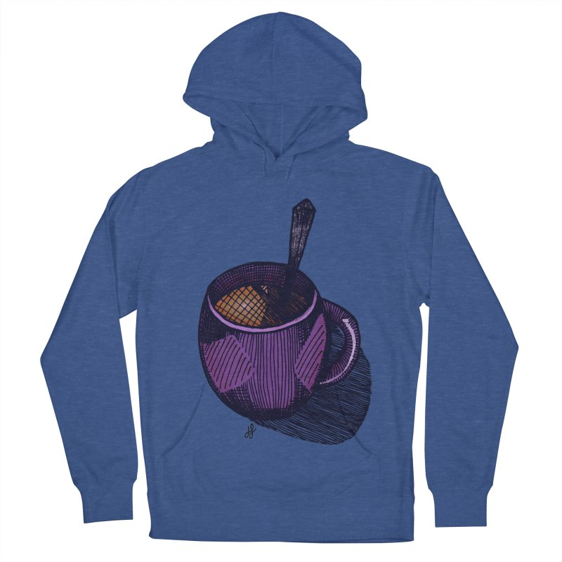 coffee mug (color version) Women's French Terry Pullover Hoody by J. Lavallee's Artist Shop