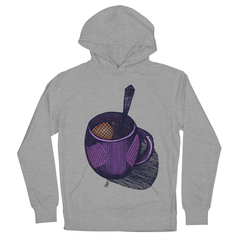 coffee mug (color version) Men's French Terry Pullover Hoody by J. Lavallee's Artist Shop