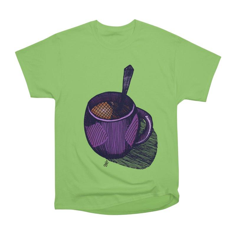 coffee mug (color version) Women's Heavyweight Unisex T-Shirt by J. Lavallee's Artist Shop