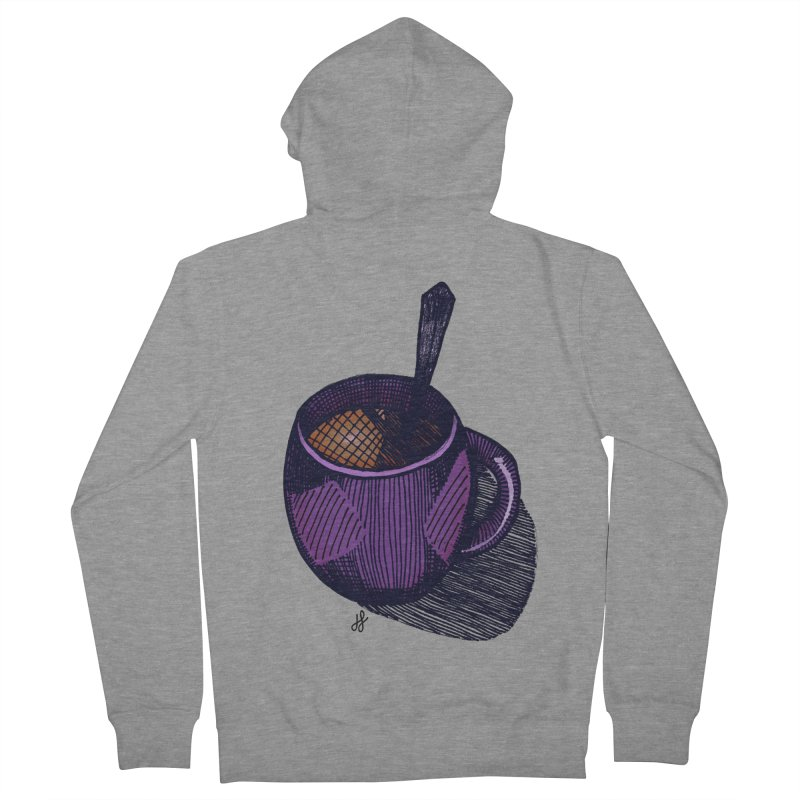 coffee mug (color version) Women's French Terry Zip-Up Hoody by J. Lavallee's Artist Shop