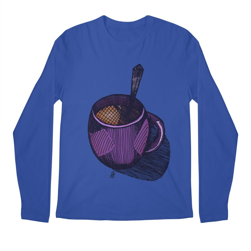 coffee mug (color version) Men's Regular Longsleeve T-Shirt by J. Lavallee's Artist Shop