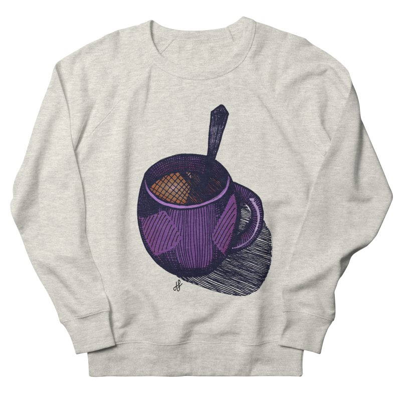 coffee mug (color version) Men's French Terry Sweatshirt by J. Lavallee's Artist Shop