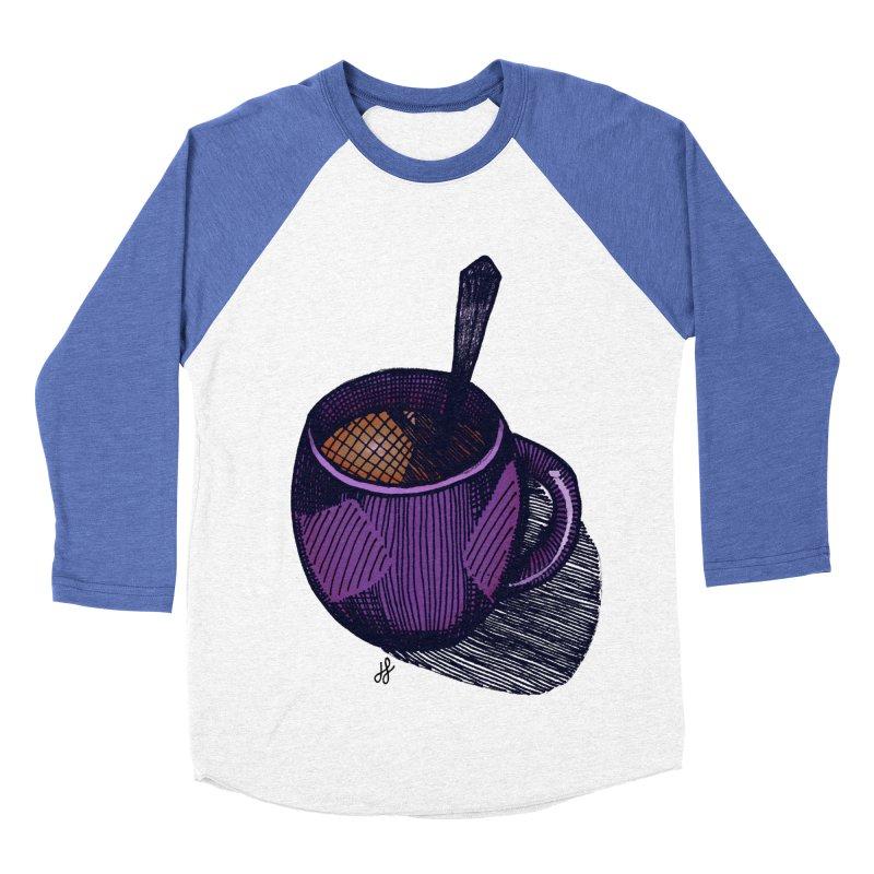 coffee mug (color version) Women's Baseball Triblend Longsleeve T-Shirt by J. Lavallee's Artist Shop