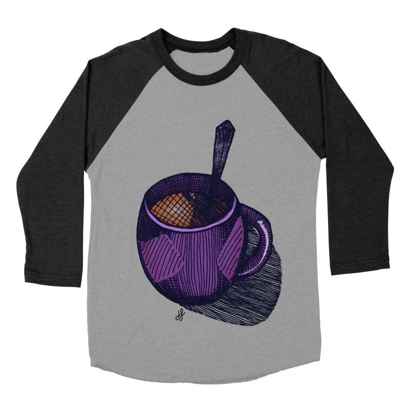 coffee mug (color version) Women's Baseball Triblend Longsleeve T-Shirt by J. Lavallee's Artist Shop