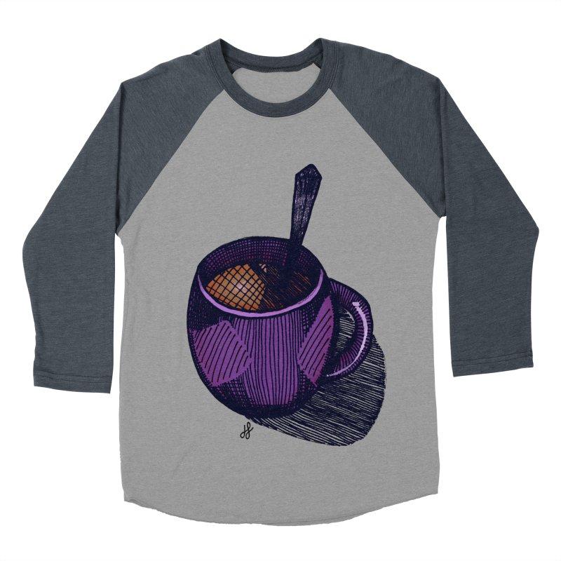 coffee mug (color version) Men's Baseball Triblend Longsleeve T-Shirt by J. Lavallee's Artist Shop